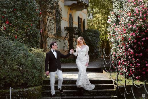 Фотосессия на озере Маджоре Ирины и Виталия, Свадебный и фэшн фотограф в Италии Анна Баранова