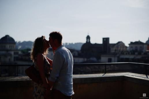 Engagement photoshoot in Rome of Massimiliano and Annarita, Wedding and Fashion Photographer in Italy Hanna Baranava