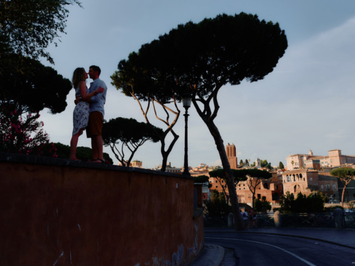 Engagement photoshoot in Rome of Massimiliano and Annarita, Wedding and Fashion Photographer in Italy Hanna Baranava