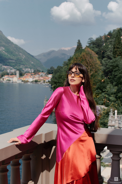 Fashion photoshoot on Lake Como for Zara Martin, Wedding and Fashion Photographer in Italy Hanna Baranava
