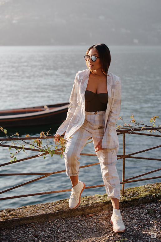 Fashion photoshoot on Lake Como for Jeannie Mai, Wedding and Fashion Photographer in Italy Hanna Baranava