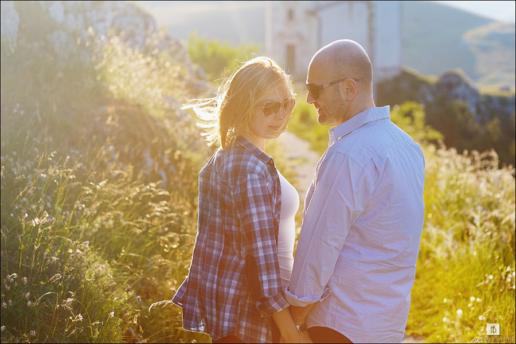 Couple photoshoot in Calascio of Francesco and Yulia, Wedding and Fashion Photographer in Italy Hanna Baranava