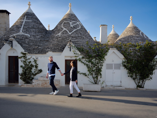Couple photoshoot in Alberobello, Apulia of Andrea e Marianna, Wedding and Fashion Photographer in Italy Hanna Baranava