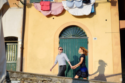 Couple photoshoot in Liguria of Sergey and Leysen, Wedding and Fashion Photographer in Italy Hanna Baranava