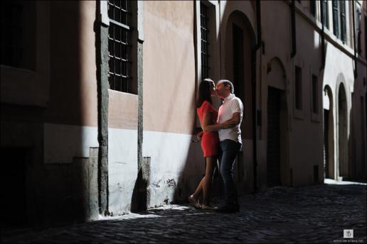 Foto di coppia a Roma per Elena e Sergei