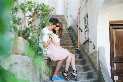 Couple photoshoot on the Amalfi Coast of Olga and Mihail, Wedding and Fashion Photographer in Italy Hanna Baranava