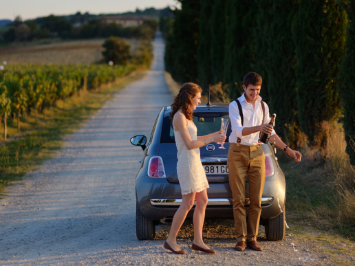 Couple photoshoot in Tuscany of Alya and Alex, Wedding and Fashion Photographer in Italy Hanna Baranava