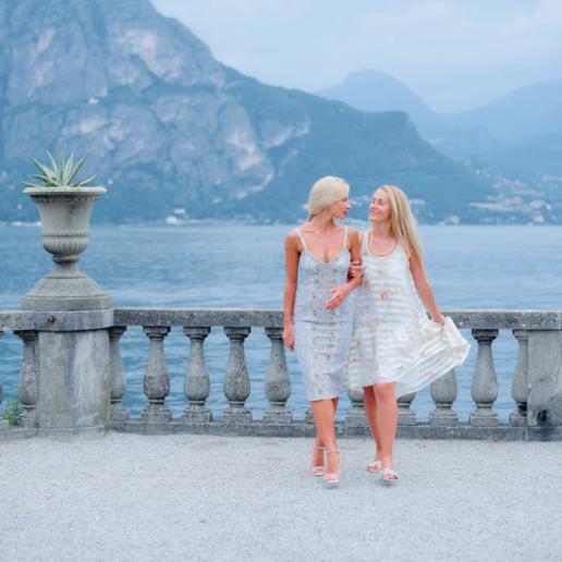 Girls portrait photoshoot on Lake Como, Wedding and Fashion Photographer in Italy Hanna Baranava