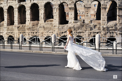Elopement in Rome of Alex and Olga, Wedding and Fashion Photographer in Italy Hanna Baranava